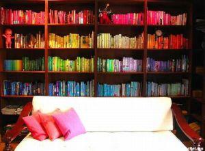 Цветная книжная полка